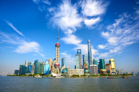 Photo for Shanghai skyline with modern urban skyscrapers China - Royalty Free Image