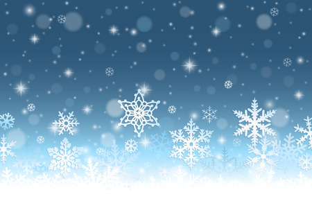 Illustration for Abstract winter background with snowflakes and snow - Royalty Free Image