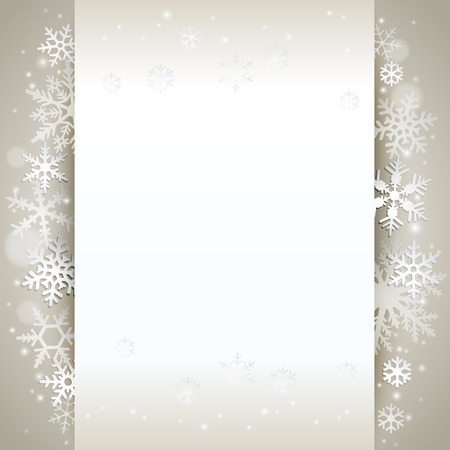 Illustration for Winter holiday background card with snowflakes - Royalty Free Image
