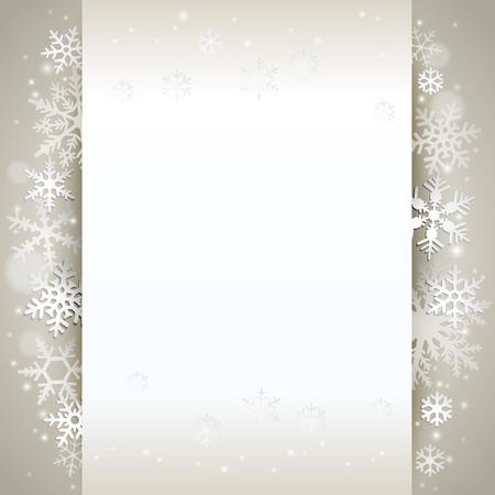 Ilustración de Winter holiday background card with snowflakes - Imagen libre de derechos
