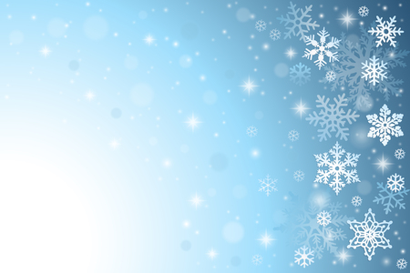 Illustration pour Abstract blue christmas background with snowflakes - image libre de droit