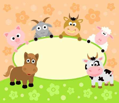 Background card with funny animals