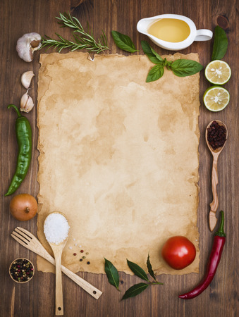 Photo for Old recipe note background concept - Royalty Free Image