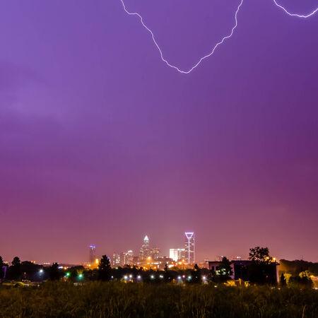 lightning strikes over charlotte nc