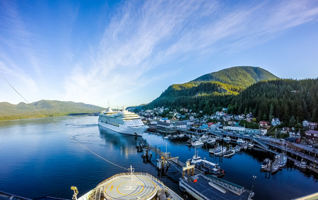 Photo for early morning in ketchikan alaska port - Royalty Free Image