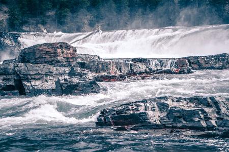 Photo for kootenai river water falls in montana mountains - Royalty Free Image
