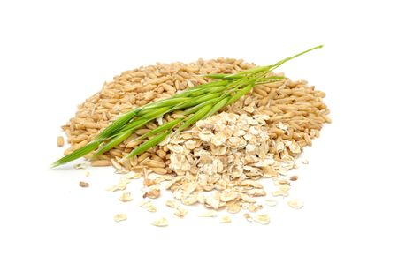 Oat Grains, Oat Flakes And Ear