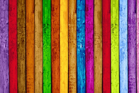 Photo for Vibrant Painted Wood Planks as Background - Royalty Free Image