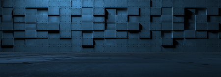 Foto per Futuristic Empty Metal Room - Immagine Royalty Free