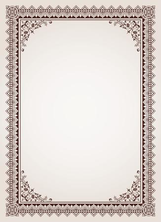 Illustration for Decorative border frame background certificate template vector - Royalty Free Image