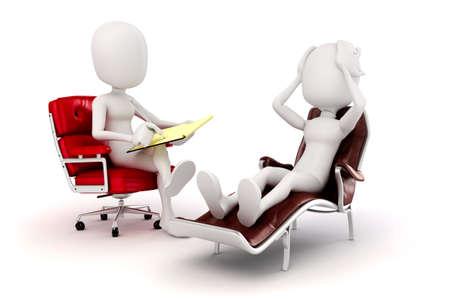 Foto de 3d man psychologist and patient  - Imagen libre de derechos