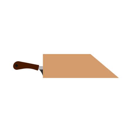 Ilustración de Knife holder blade wooden icon vector. Cutlery holes vintage utensil equipment - Imagen libre de derechos