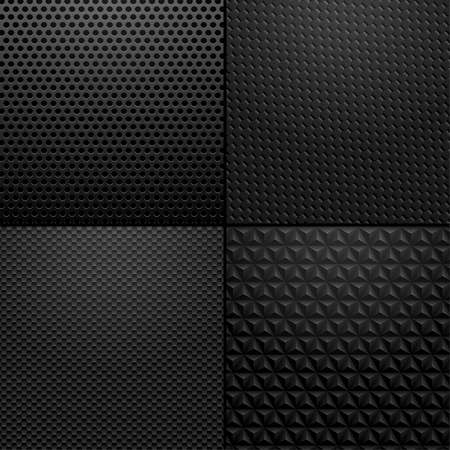Photo pour Carbon and Metallic texture - background illustration. Vector illustration of black carbon, metallic patterns. - image libre de droit