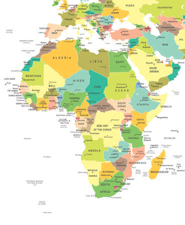 Illustration pour Africa map - highly detailed vector illustration. - image libre de droit