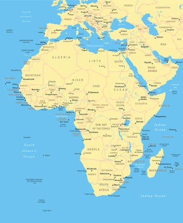 Illustration for Africa - map - illustration. - Royalty Free Image