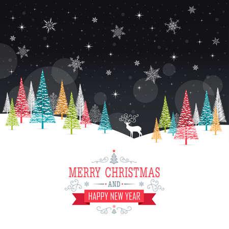 Illustration pour Christmas Card - Illustration. Vector illustration of Christmas Frame. - image libre de droit