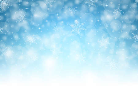 Illustration for Horizontal Christmas Background - Illustration. Vector illustration of Christmas Background. - Royalty Free Image