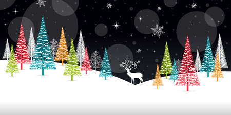 Illustration for Christmas Winter Frame - Illustration. Vector illustration of Christmas Winter Background. - Royalty Free Image