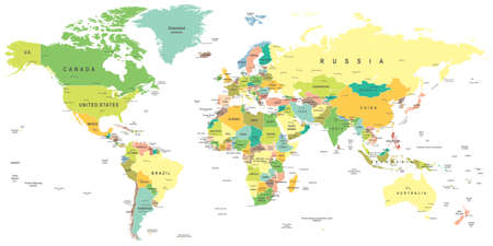 Illustration pour World map - highly detailed vector illustration. - image libre de droit