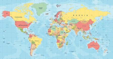Illustration for World Map Vector. High detailed illustration of worldmap - Royalty Free Image