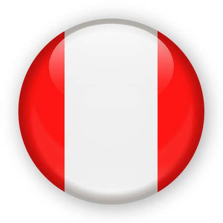 Illustration for Peru Zealand Flag Vector Round Icon - Illustration. - Royalty Free Image