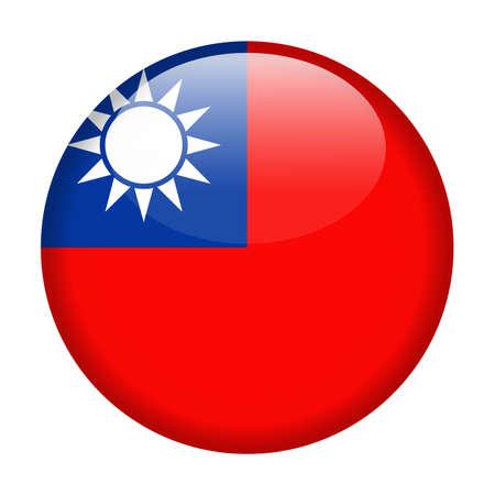Ilustración de Taiwan Flag Vector Round Icon - Illustration. - Imagen libre de derechos