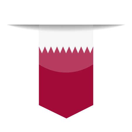 Illustration pour Qatar Flag Bookmark Icon  Illustration - image libre de droit