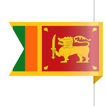 Ilustración de Sri Lanka Flag Vector Bookmark Icon Illustration - Imagen libre de derechos