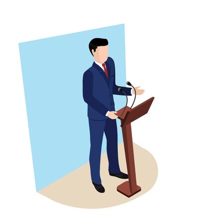 Illustration pour A man in a business suit with a red tie. - image libre de droit
