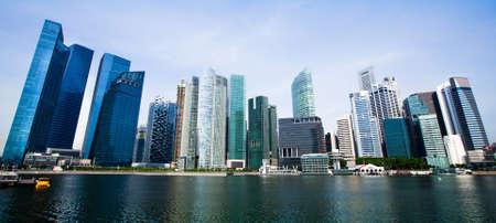 Foto de Wide Panorama of Singapore City  - Imagen libre de derechos