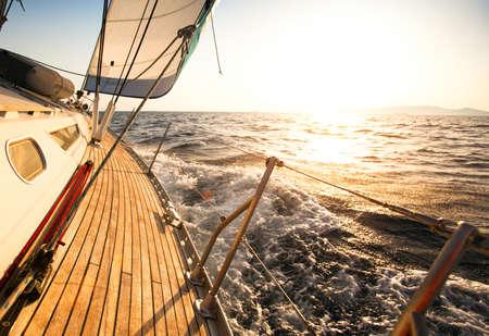 Photo pour Yacht, sailing regatta. - image libre de droit