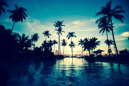 Photo for Twilight on amazing ocean tropical beach. - Royalty Free Image