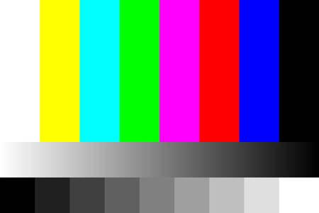 Illustration pour Tv no signal illustration. - image libre de droit