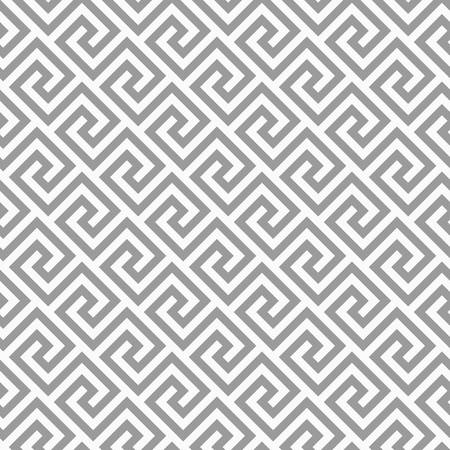 Illustration pour Geometric line. abstract seamless pattern with Greek antique motif. Vector illustration. Abstract background for the fabric cloth, fashion, ceramic floor, ornament textile, texture. Grey color - image libre de droit