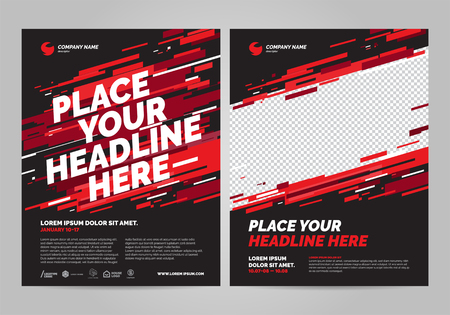 Ilustración de Poster design sports invitation template. Can be adapt to Brochure, Annual Report, Magazine, Poster. - Imagen libre de derechos