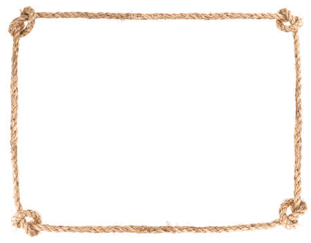 Foto de rope knot frame solated on white background - Imagen libre de derechos