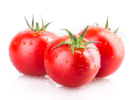 Foto per tomato Isolated on white background - Immagine Royalty Free