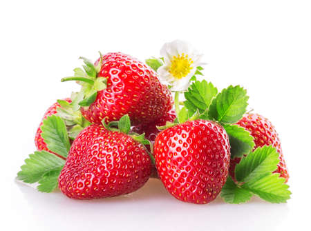 Photo pour strawberry Isolated on white background - image libre de droit