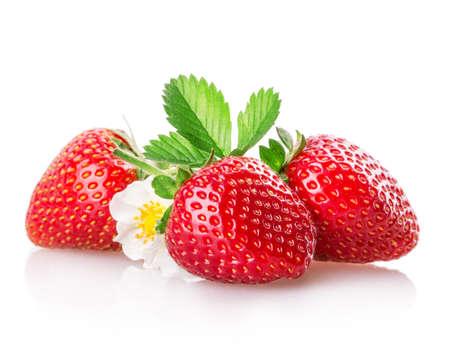 Photo for strawberry Isolated on white background - Royalty Free Image