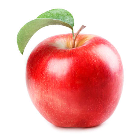 Foto per red Apple Isolated on white background - Immagine Royalty Free