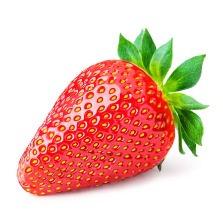 Foto de Red berry strawberry isolated on white background - Imagen libre de derechos