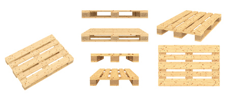 Photo for Euro pallet. Isolated on white background. 3d render - Royalty Free Image