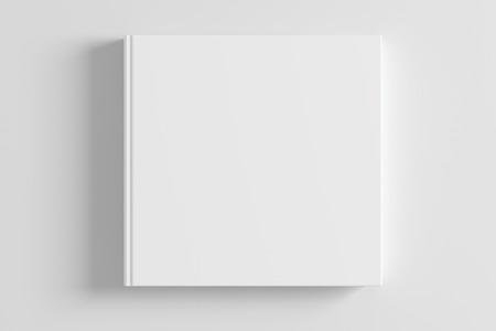 Photo pour Blank white book cover on white background. 3d render - image libre de droit