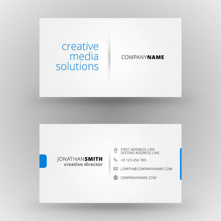 Illustration pour Creative business card vector design print template - image libre de droit