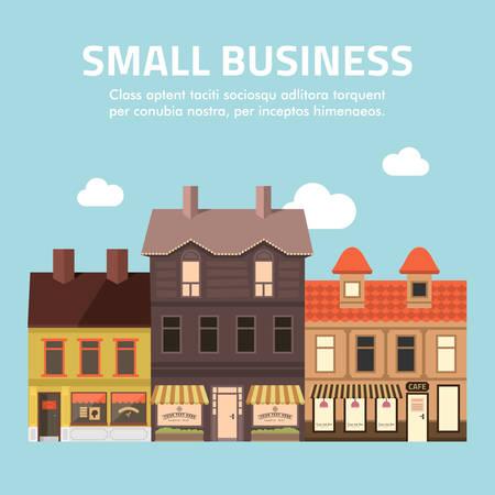Illustration pour Flat design illustration of small business concept. - image libre de droit