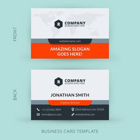 Ilustración de Vector modern creative and clean business card template. Flat design - Imagen libre de derechos