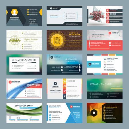 Ilustración de Vector set of modern creative business cards - Imagen libre de derechos