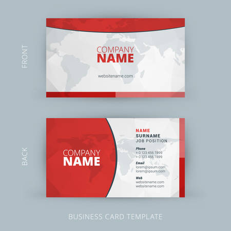 Illustration pour Vector Modern Creative and Clean Business Card Template. Flat Design - image libre de droit