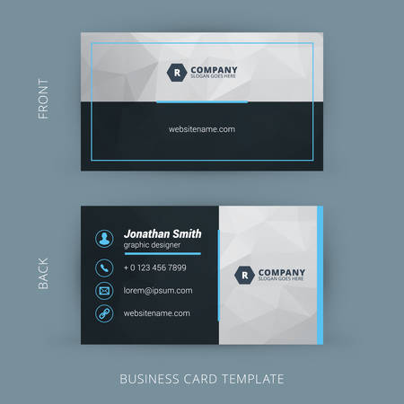 Illustration pour Vector Modern Creative and Clean Business Card Template - image libre de droit
