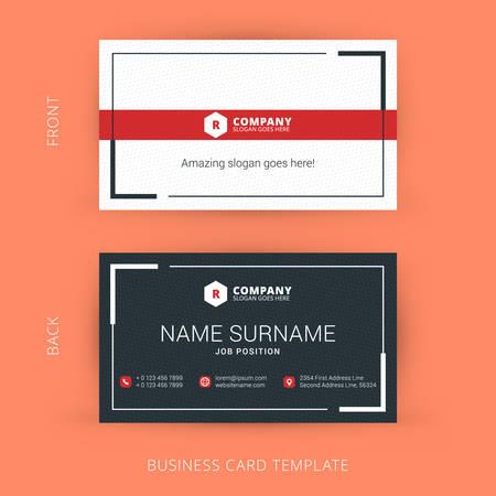 Illustration pour Vector Modern Creative and Clean Business Card Template - image libre de droit